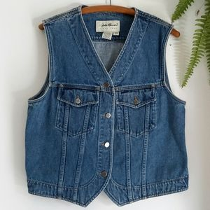 Women's  S/P denim vest, Eddie Bauer, sleeveless